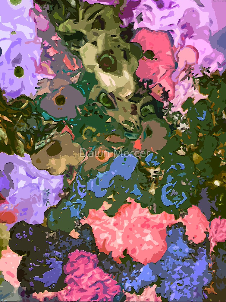 Floral Eye Candy Abstract by MissDawnM