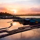 sunset at fisherman villages by naphotos