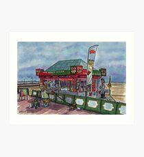 the beach kiosk Art Print