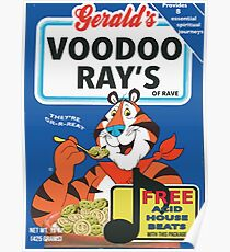 VOODOO RAY'S CEREAL BOX Poster