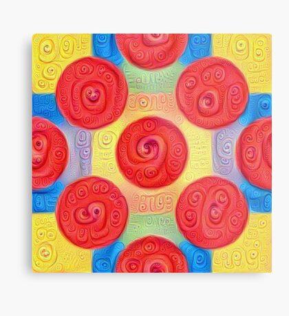 #DeepDream Color Squares and Circles Visual Areas 5x5K v1448272824 Metal Print