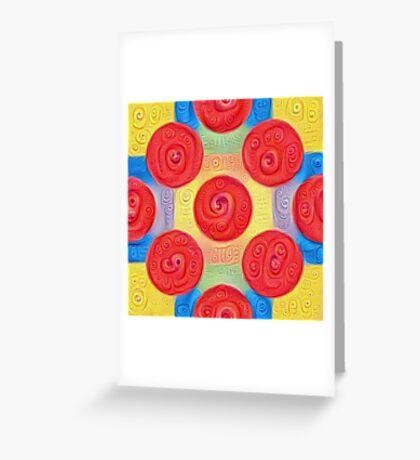 #DeepDream Color Squares and Circles Visual Areas 5x5K v1448272824 Greeting Card