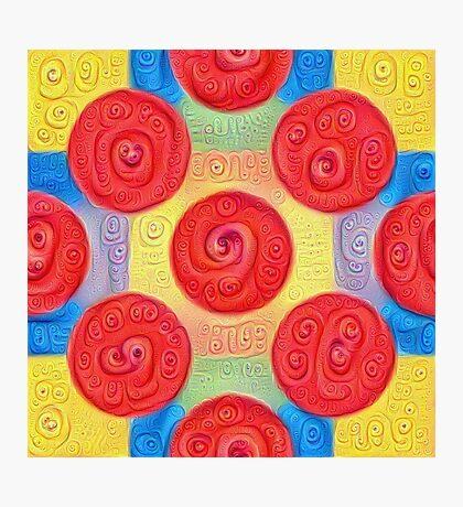 #DeepDream Color Squares and Circles Visual Areas 5x5K v1448272824 Photographic Print