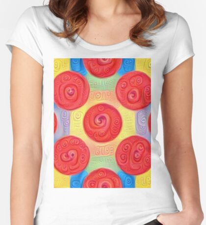 #DeepDream Color Squares and Circles Visual Areas 5x5K v1448272824 Fitted Scoop T-Shirt