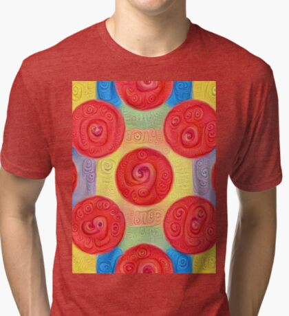 #DeepDream Color Squares and Circles Visual Areas 5x5K v1448272824 Tri-blend T-Shirt