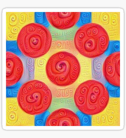 #DeepDream Color Squares and Circles Visual Areas 5x5K v1448272824 Sticker