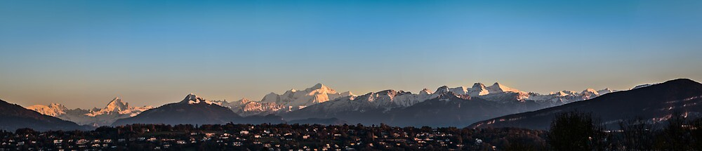Mt Blanc and the Swiss Alps by A.Lwin Digital - Chasing the Inspiration