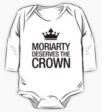 MORIARTY DESERVES THE CROWN (black type) One Piece - Long Sleeve