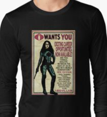 Cobra Recruiting poster Featuring the Baroness (G.I. Joe) Long Sleeve T-Shirt