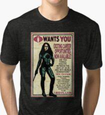 Cobra Recruiting poster Featuring the Baroness (G.I. Joe) Tri-blend T-Shirt