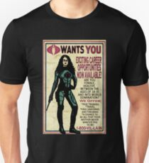 Cobra Recruiting poster Featuring the Baroness (G.I. Joe) Slim Fit T-Shirt