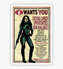 Cobra Recruiting poster Featuring the Baroness (G.I. Joe) Sticker