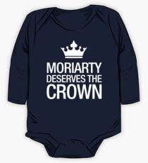 MORIARTY DESERVES THE CROWN (white type) One Piece - Long Sleeve