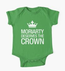 MORIARTY DESERVES THE CROWN (white type) One Piece - Short Sleeve