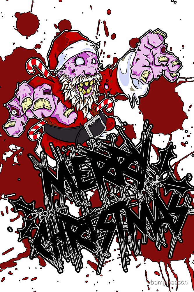 Zombie Claus Merry Christmas by barry neeson