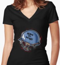 Born to Avenge Women's Fitted V-Neck T-Shirt