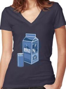 Missing Droids Women's Fitted V-Neck T-Shirt