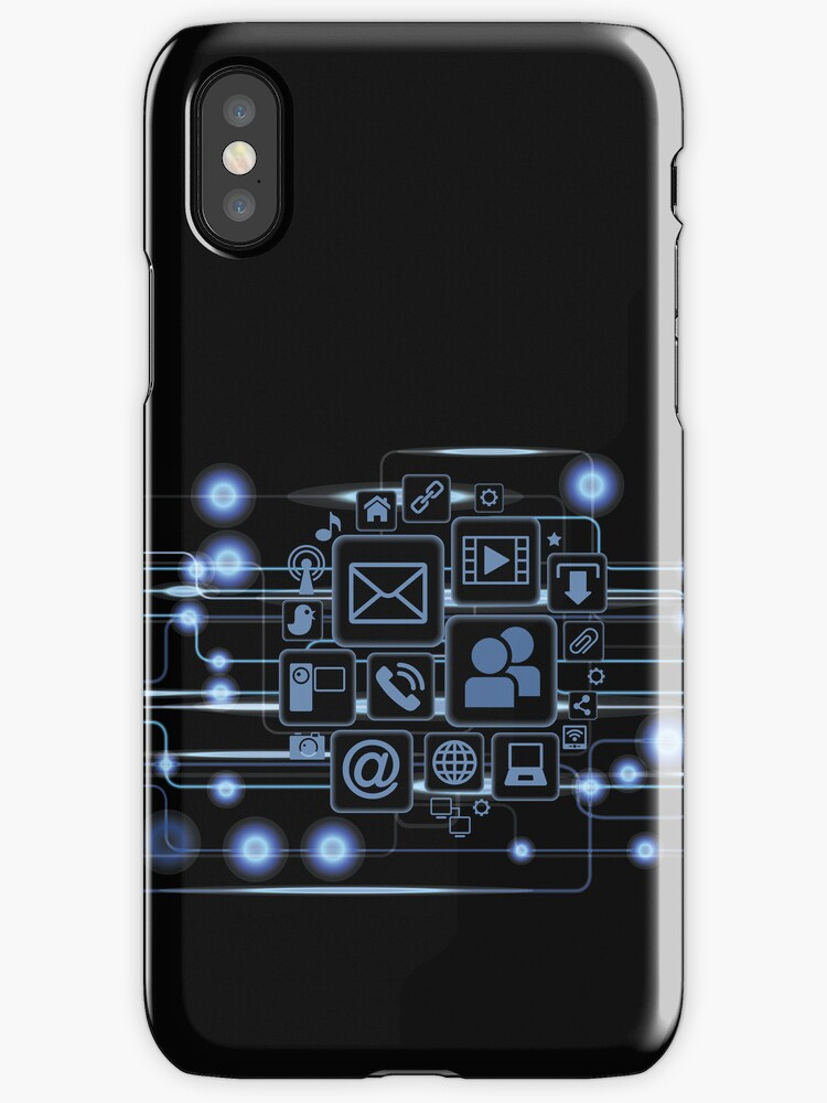 Full Time Connected iPhone 5 Case / iPhone 4 Case by CroDesign