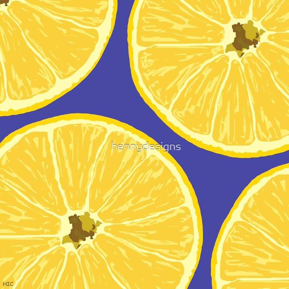 lemons blue by hennydesigns
