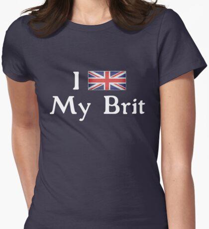 I <3 My Brit (white text) T-Shirt