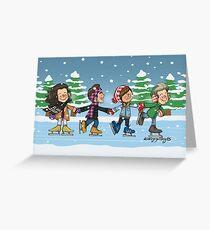 Ice Skating Greeting Card