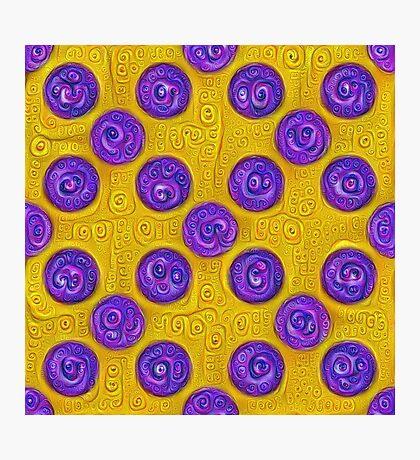 #DeepDream Color Squares and Circles Visual Areas 5x5K v1448281164 Photographic Print