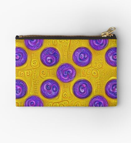 #DeepDream Color Squares and Circles Visual Areas 5x5K v1448281164 Zipper Pouch