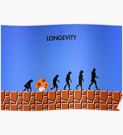 99 Steps of Progress - Longevity Poster