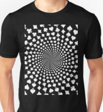Poker / Blackjack Card Suits Spiral T-Shirt