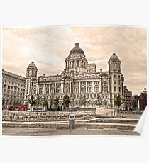 Port of Liverpool Building Poster