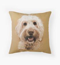 Bernie the gorgeous labradoodle! Throw Pillow