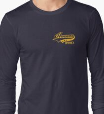 AWESOME BARNEY (yellow type) Long Sleeve T-Shirt
