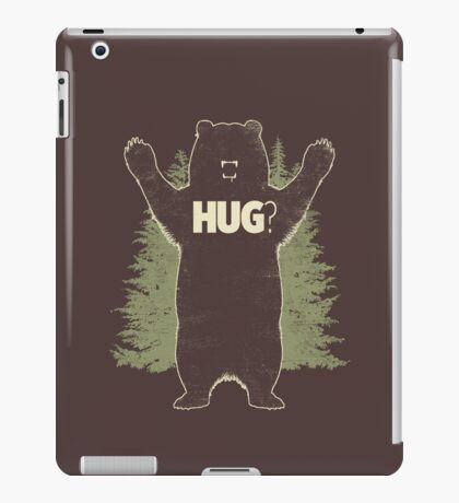 Bear Hug (Dark) T-Shirt  iPad Case/Skin