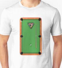 Billiards / Pool Balls on Table Unisex T-Shirt