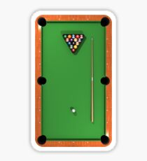 Billiards / Pool Balls on Table Sticker