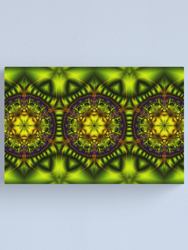 Alternate view of Green Lotus Canvas Print