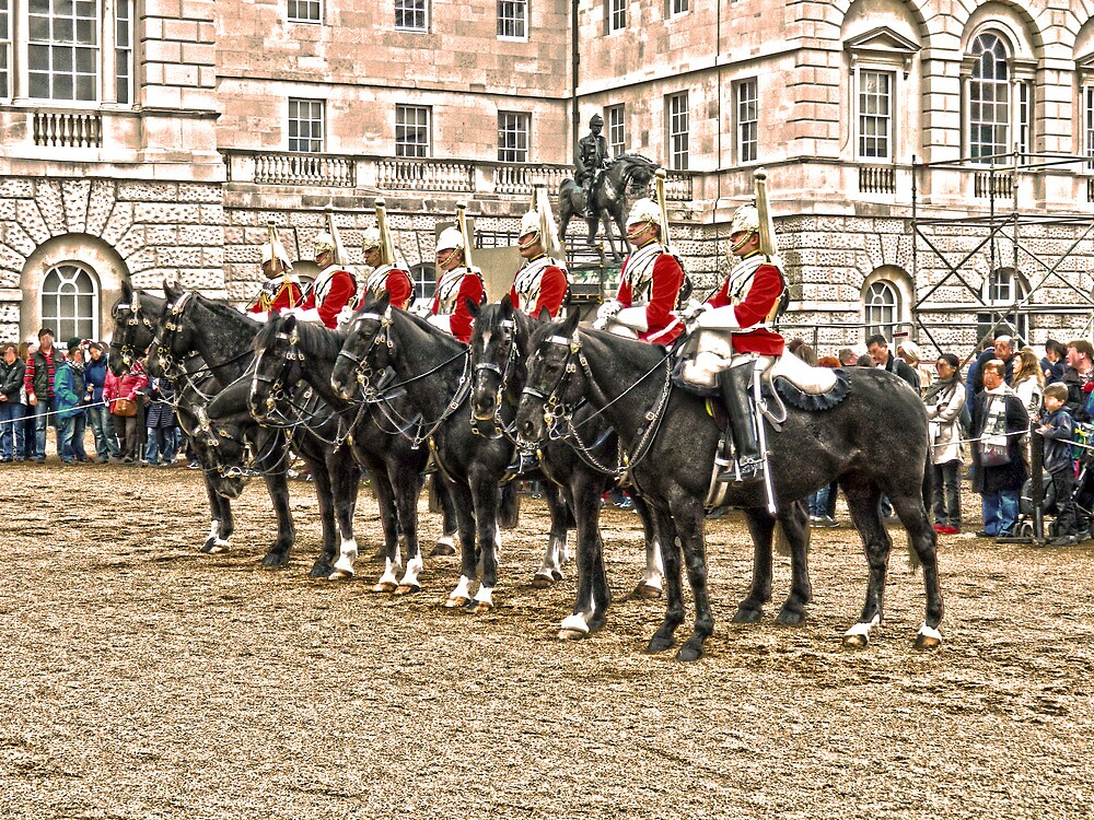 The Queens Red Horseguards by DavidWHughes