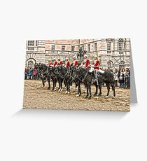 The Queens Red Horseguards Greeting Card