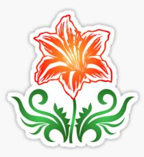 Vector Flower & Flourishes Sticker