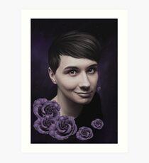 Dan Howell 'Nachtblumen' Kunstdruck