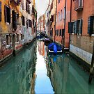 Venice Canal reflections by David Galson