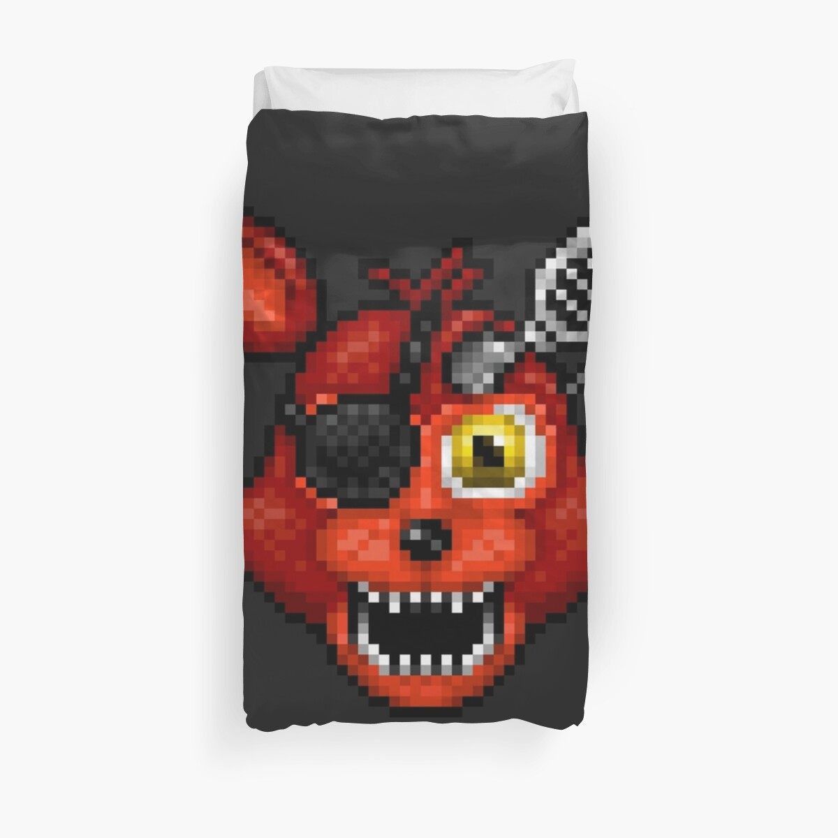 Quot Adventure Withered Foxy Fnaf World Pixel Art Quot Duvet