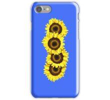 Iphone Case Sunflowers - Mid Blue iPhone Case/Skin