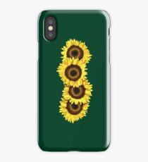 Iphone Case Sunflowers - Dark Green iPhone Case