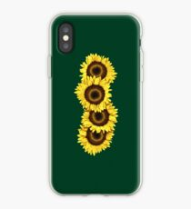 Iphone Case Sunflowers - Dark Green iPhone Case