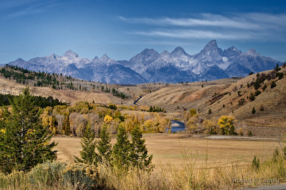 The Grand Tetons by Robert H Carney