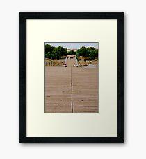 A bridge for pedestrians Framed Print