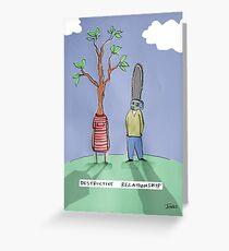 destructive relationship Greeting Card