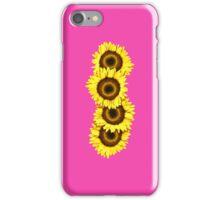 Iphone Case Sunflowers - Shocking Pink iPhone Case/Skin
