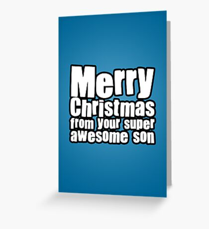 Awesome Son Greeting Card